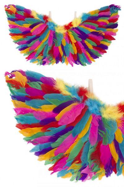 Engelen vleugels regenboog veren