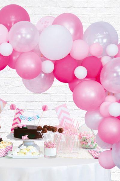 Ballonnen decoratie Kit roze professionele ballonnenboog