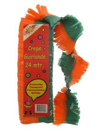 Crepe Guirlande brandveilig Oranje groen
