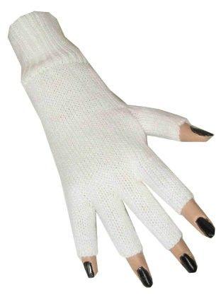 Vingerloze handschoenen wit