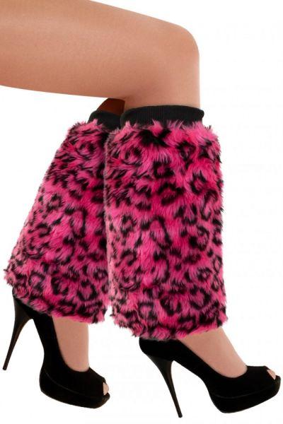 Roze panter plusche beenwarmers