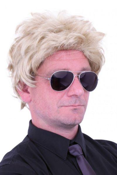 Herenpruik blond haar