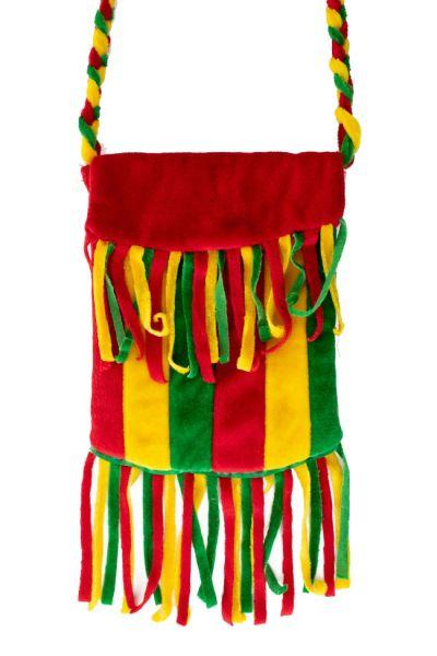 Carnaval Tas met franjes rood geel groen Reggae