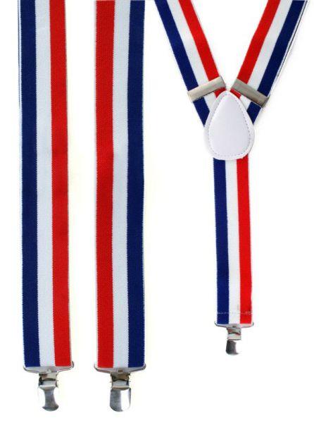 Koningsdag bretels rood - wit - blauw Nederland