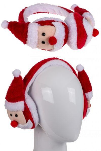 Oorwarmers met Kerstmannetjes