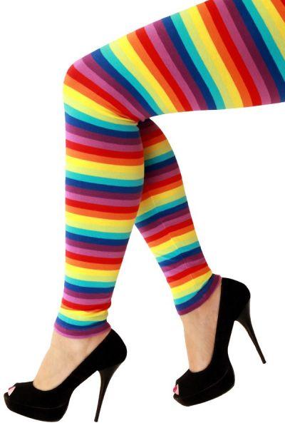Legging felle regenboog kleuren