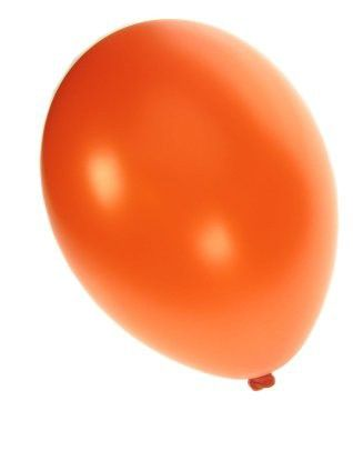 Kwaliteitsballon metallic oranje