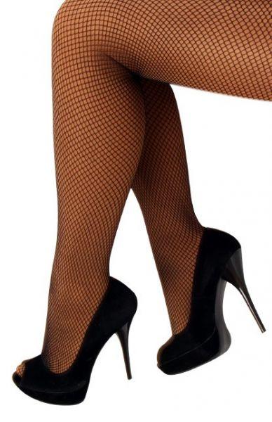 Zwarte fijne netpanty