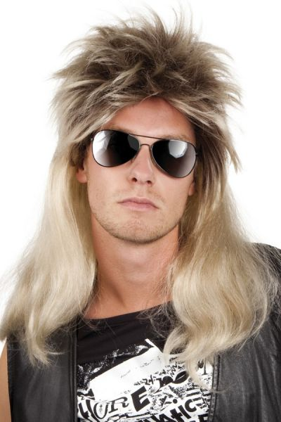 Rocker Pruik Ryan blond
