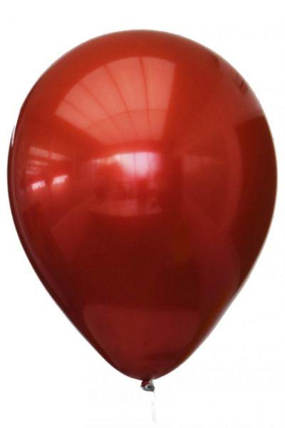 Rode titanium chrome ballonnen