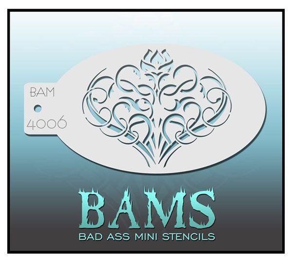 Bad Ass BAM schminksjabloon 4006