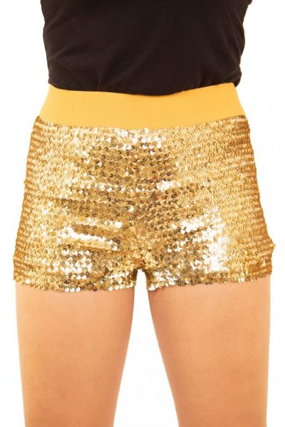 Hotpants met pailletten goud