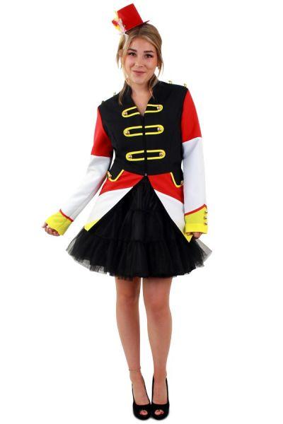 Carnavalsjas rood wit geel dames