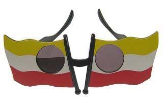 Bril vlag rood wit geel