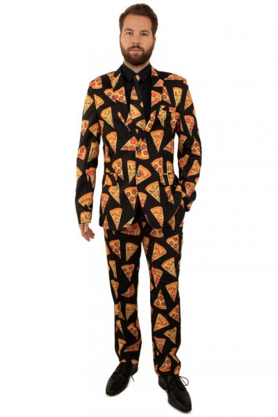Grappig 3-delig Pizza kostuum