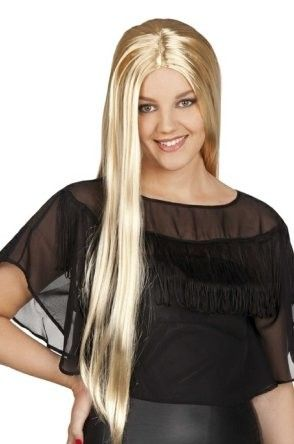 Dames pruik lang blond haar