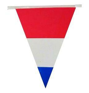 Vlaggenlijn Nederlandse vlag 60m feestversiering