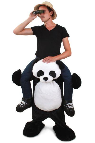 Grappig Piggyback kostuum gedragen door Panda
