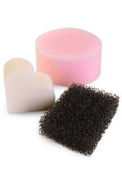 Profi Spons-set roze spons stoppelspons latex spons