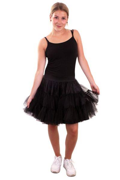 Petticoat zwart 3 lagen