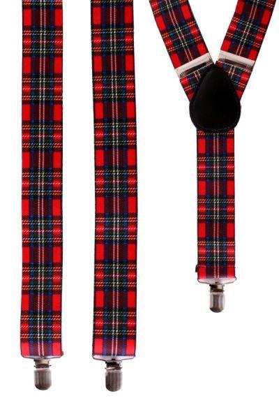 Schotse bretels met ruit