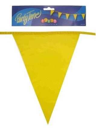 Vlaggenlijn geel 50m feestversiering