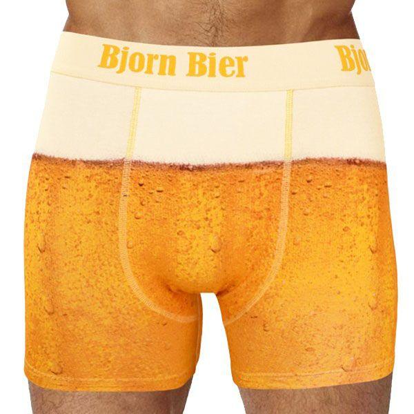 Bier boxershort onderbroek shorts party vrijgezellenfeest verjaardagscadeau ondergoed
