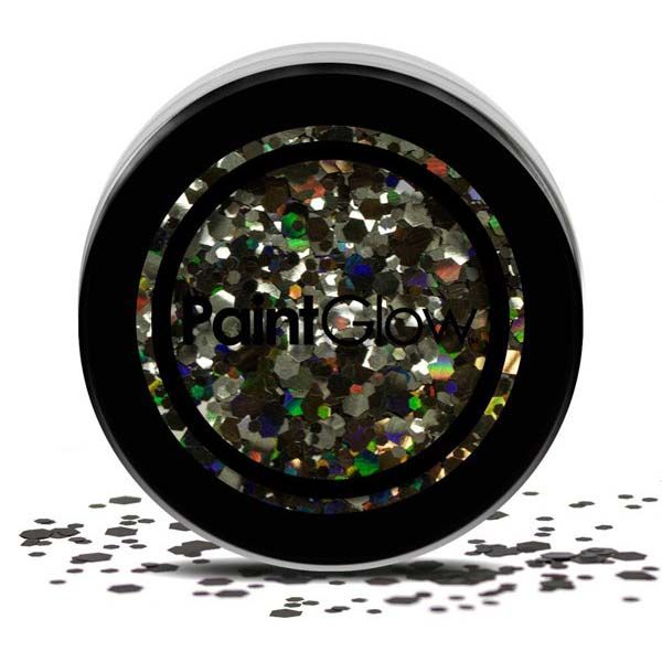Chunky cosmetic glitters zwart Enchantress