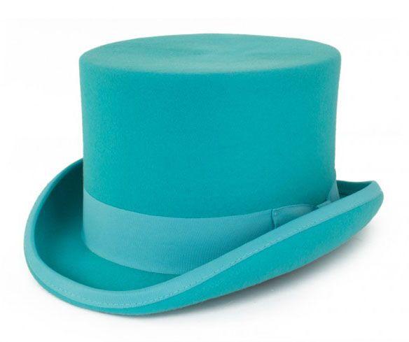 Turquoise cilinder hoed