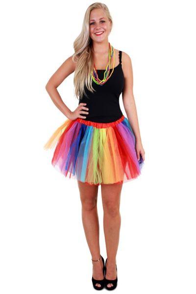 Tule kleedje regenboog strepen