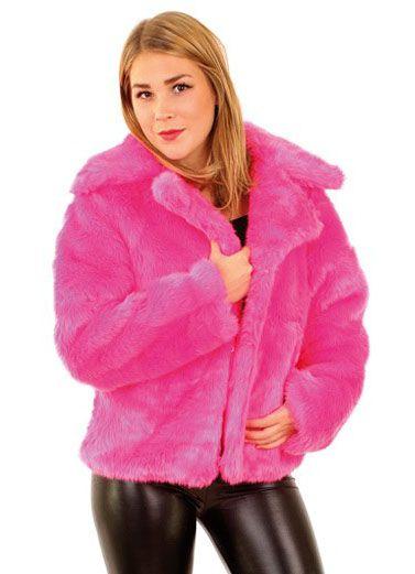 Dames Bontjas fluor pink