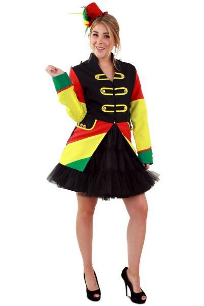 Carnavalsjas rood geel groen dames