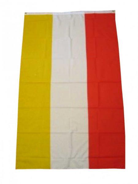 Vlag rood wit geel 90 x 150 cm