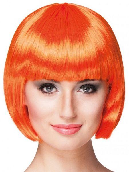 Pruik oranje met Bobline