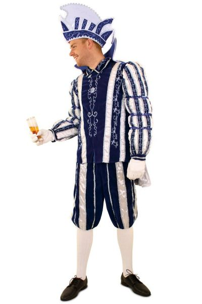 Prins Carnaval kostuum pak blauw wit