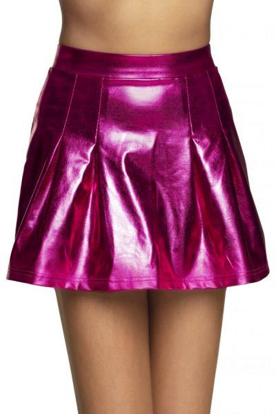 Mini kleedje glanzend pink