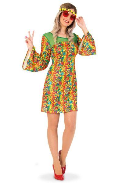 Kleurrijk Hippie-kleedje bloemen
