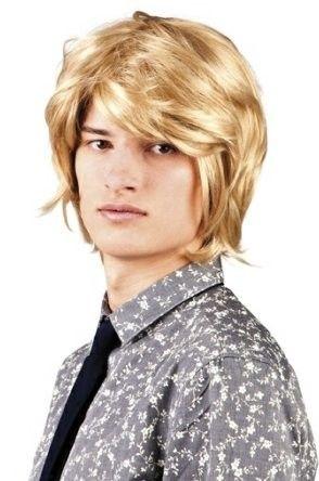 Heren pruik 70s 80s blond