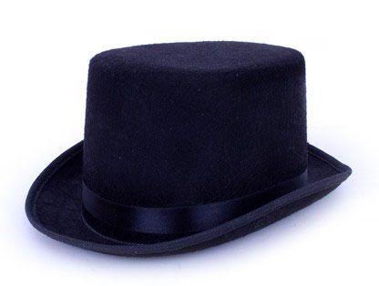 Cilinderhoed hoge hoed zwart