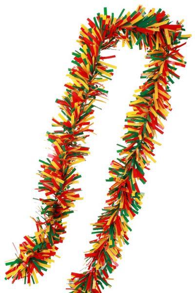 PVC folie draai guirlande rood geel groen carnaval brandveilig