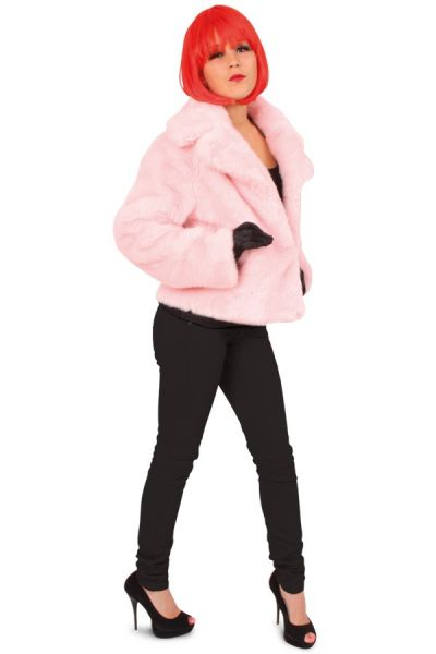 Foute roze dames bontjas