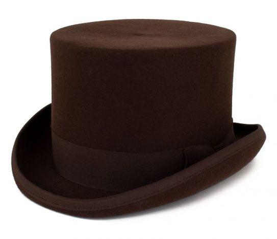 Bruine cilinder hoed