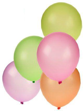 Ballonnen 50 x assorti kleuren NEON FLUOR 10 inch