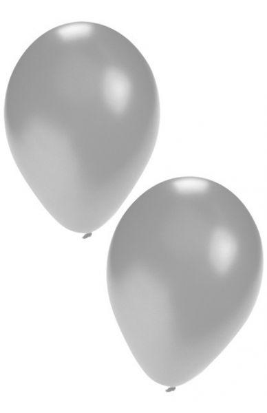 Zilveren heliumballonnen