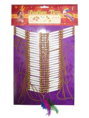 indianen halsband pijpjes kralen medium