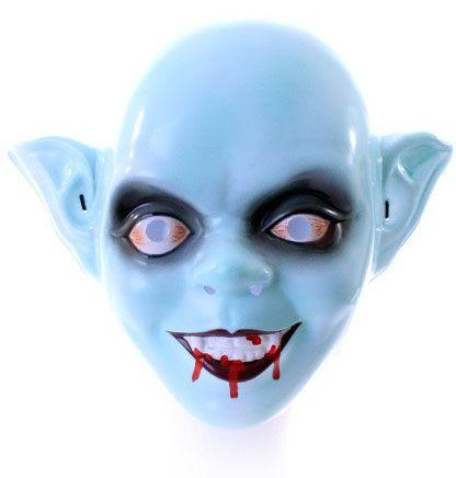 Zombie masker kind met bloederige mond