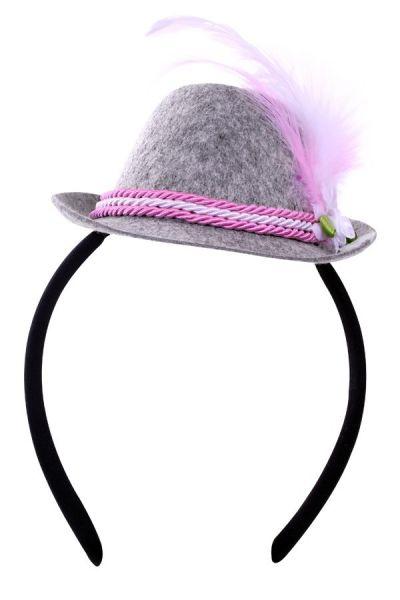 Oktoberfest Mini Tiroler hoedje roze op deadeem