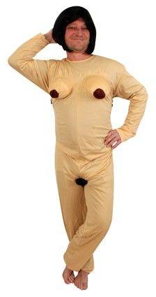 Vrijgezellenfeest outfit Naakt-kostuum vrouw
