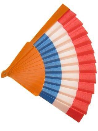 Koningsdag Waaier rood wit blauw oranje