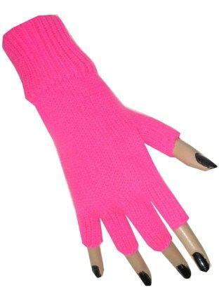 Vingerloze handschoen pink